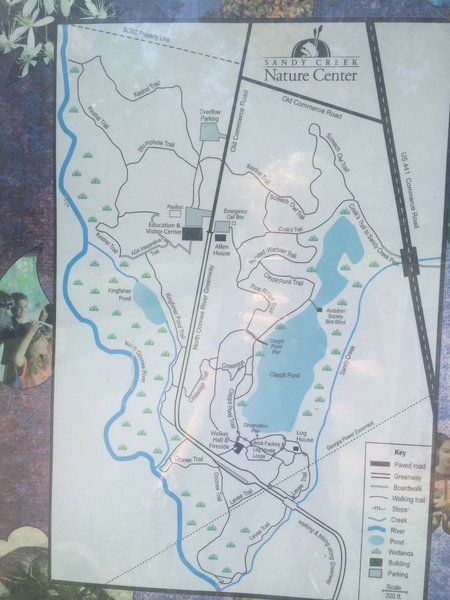 Sandy Creek Nature Center trail map