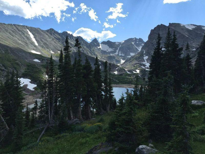 Looking west, southwest toward Lake Isabelle