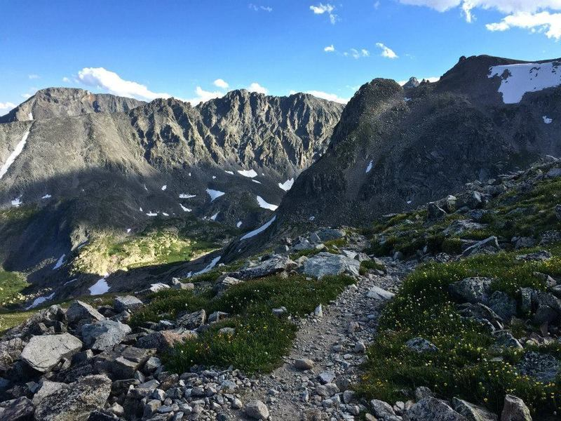 The ascent/descent from Pawnee Pass is incredibly beautiful. A top spot in Colorado.