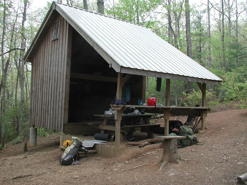 Gooch Gap Mountain Shelter 5 miles in from Woody Gap