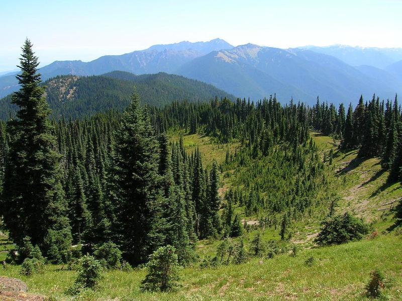 Ridge, before dropping to Happy Lake