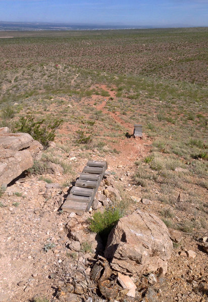 Jumps for cyclists, or really fast runners, brave enough to descend the La Espina Suicide Drop.