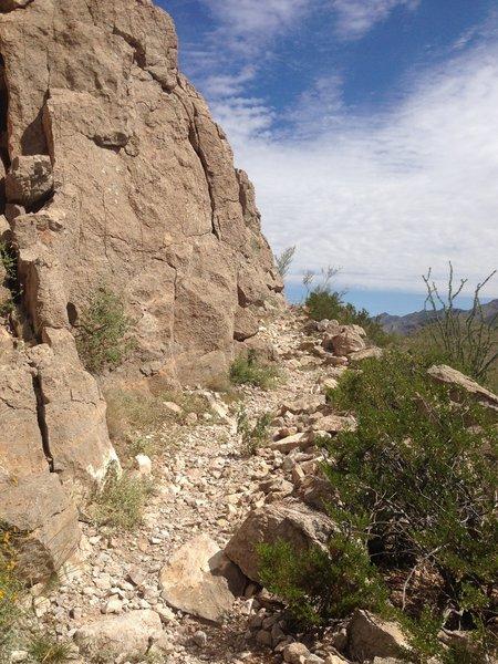 A cliffside section of La Espina Ledge.