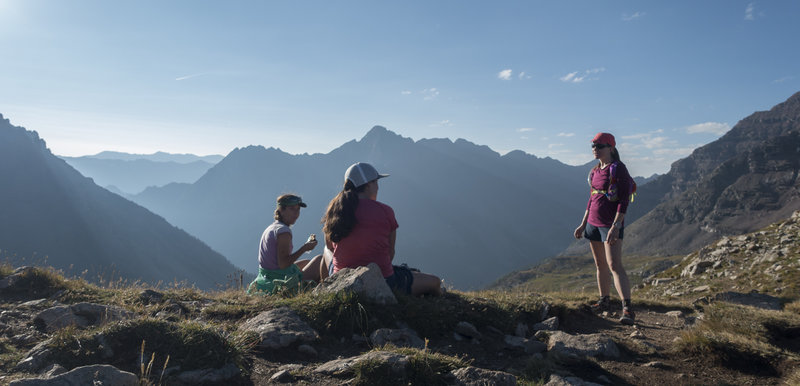 Awesome spot for a break. Shortly after sunrise on Buckskin Pass. Photo: Michelle Smith