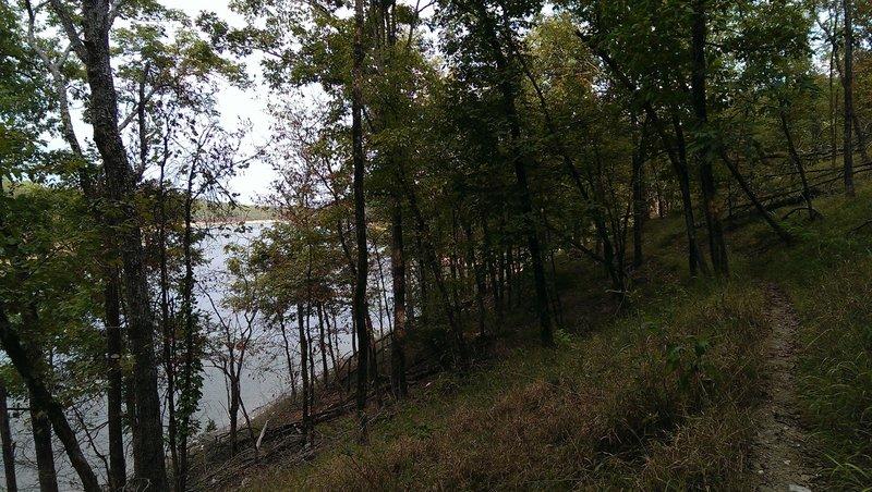 Alongside the lake