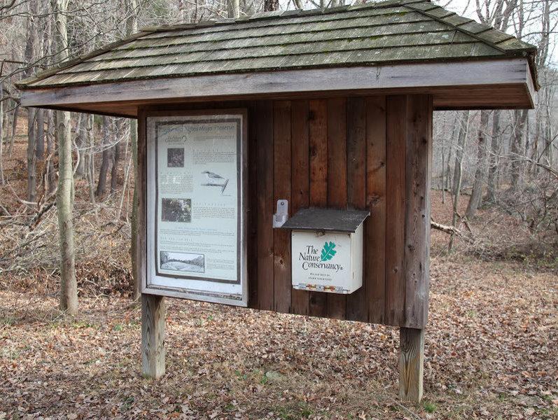 Trailhead on Sarles Street in Mt Kisco - map kiosk