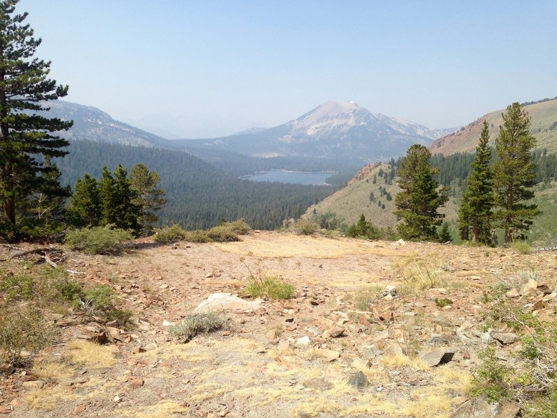 The view of Lake Mary and Mammoth Mountain.