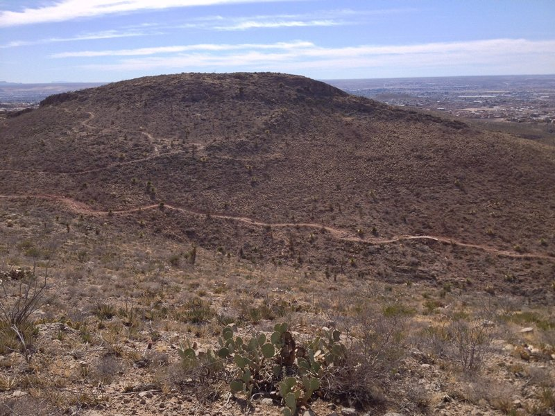 La Espina seen from Broke Back. Mayberry RFD trail in valley below.