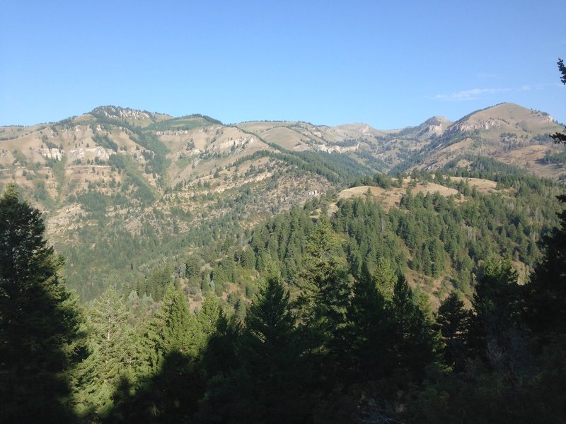 A view of the ridge just to the west of the top part of the Jardine Juniper From Wood Camp trail