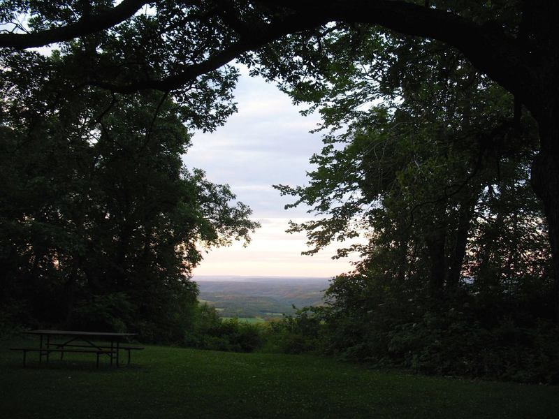 Looking north toward the Wisconsin River Valley from atop Blue Mound.