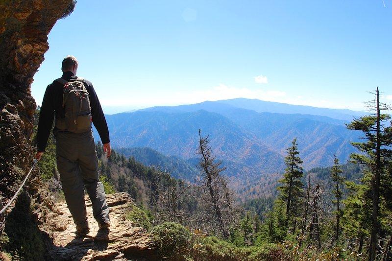 David on the Alum Cave Trail