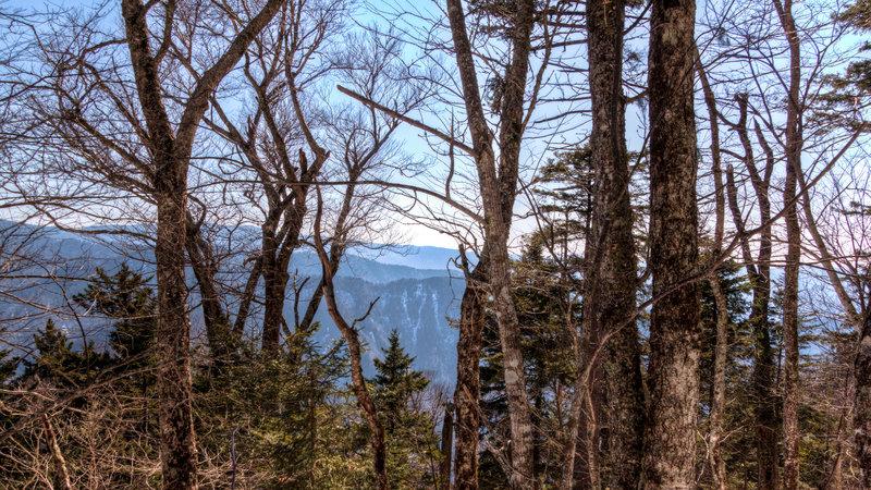 Peaking through the trees on Bullhead Trail.