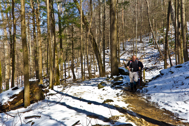 Working up Rainbow Falls Trail to Rainbows Falls.