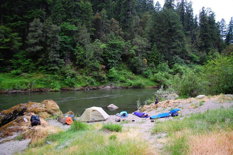 Camping at Quail Creek on the Rogue River Trail