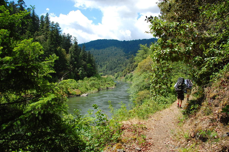 Hiking the Rogue River Trail.