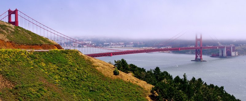 View of the bridge and San Francisco