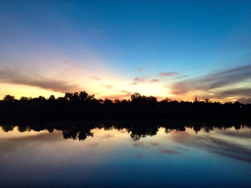 Sunrise over Skeel Reservoir.