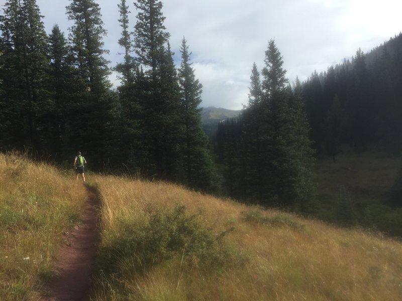 Cruising up Brush Creek towards Star Pass.