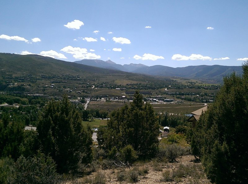 Looking south over the town of Edwards.