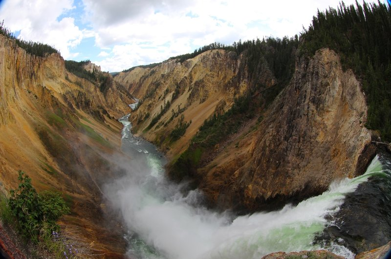 At the brink of Lower Yellowstone Falls.