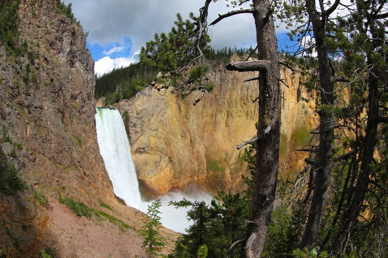 Lower Yellowstone Falls from Uncle Tom's Trail.