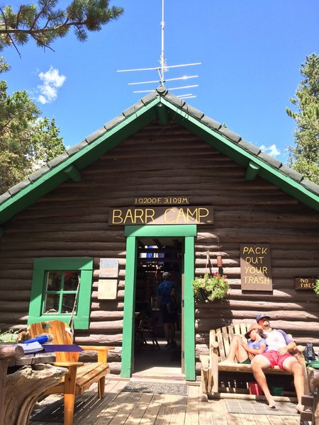 Barr camp for water, supplies, or shelter if you need them
