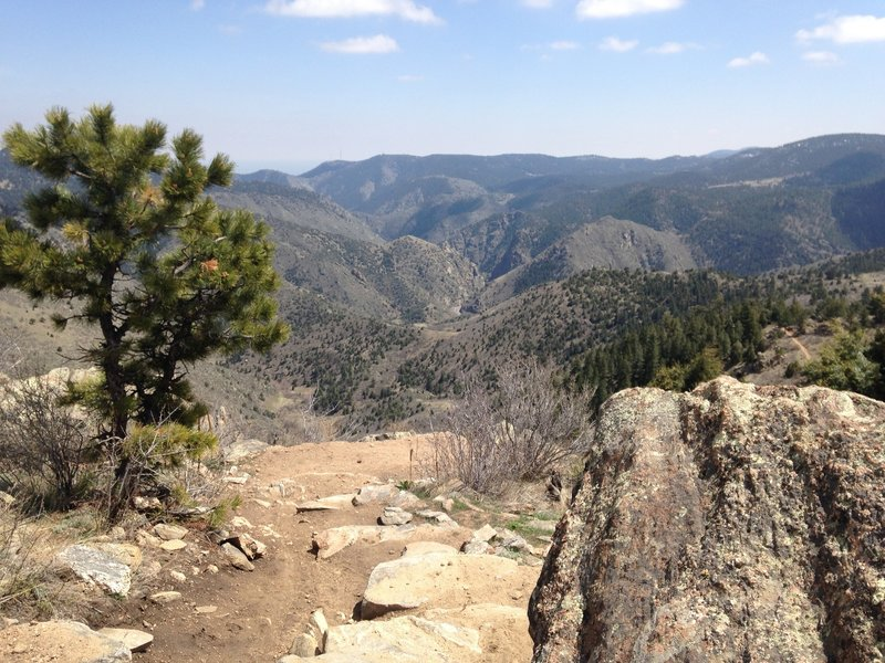 View of Clear Creek Canyon from a highpoint on the trail
