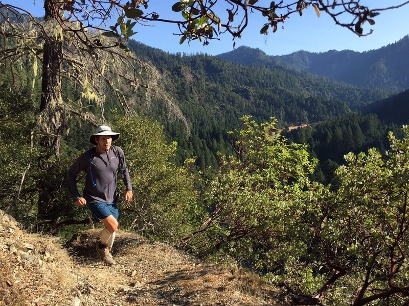 Coming up to the viewpoint on Devils Backbone Trail
