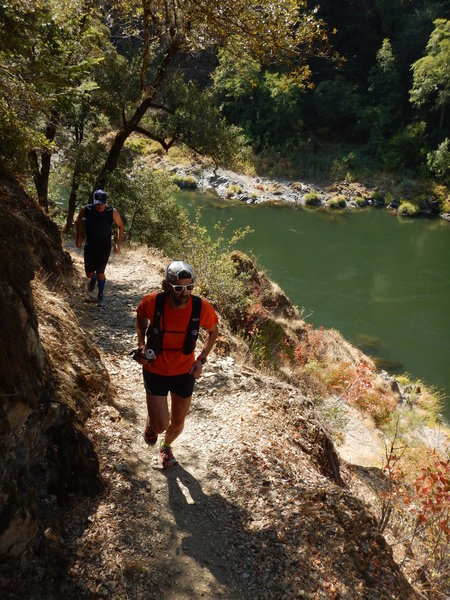 Running up the Rogue River Trail