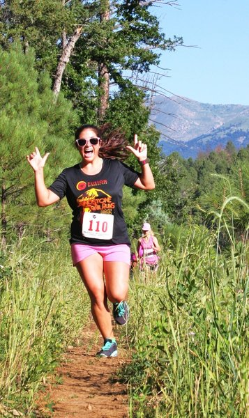 A happy participant of the Ruidoso Grindstone Trail Runs (last weekend of July)
