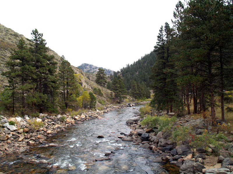 Poudre River (Looking downriver from the Greyrock bridge)