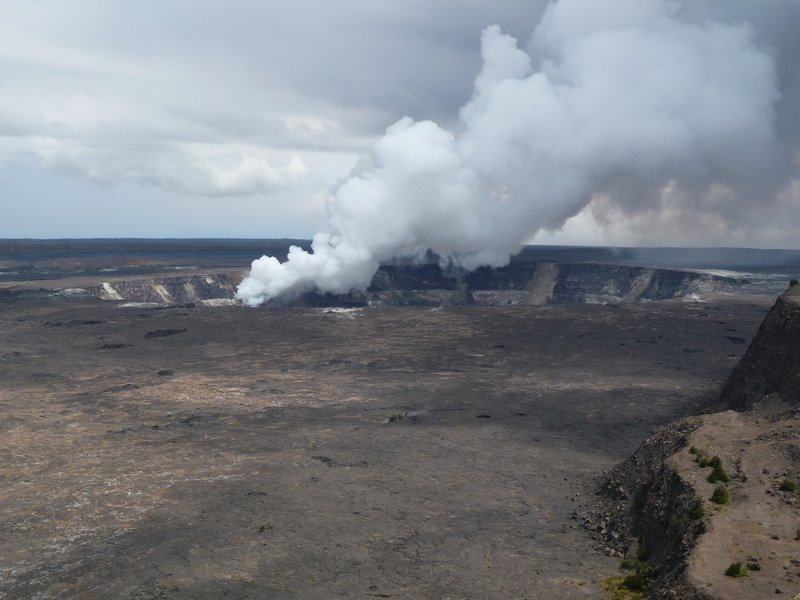 Hawaii Volcanoes NP from the Kilauea Overlook.