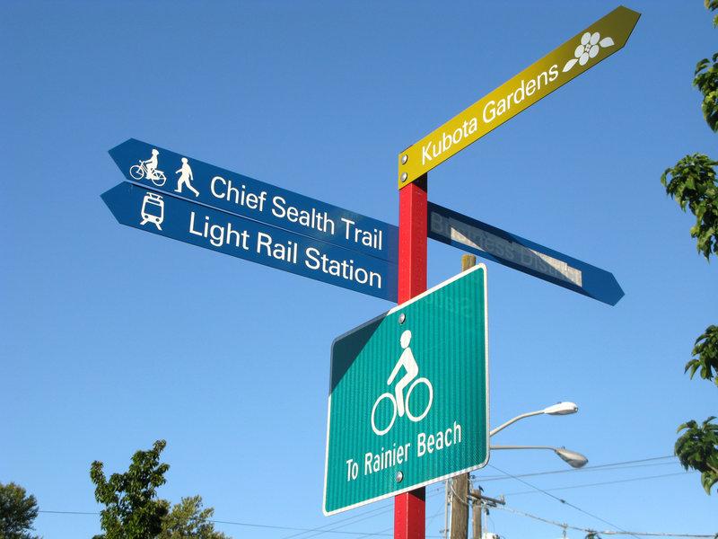 Rainier Beach wayfinding signs