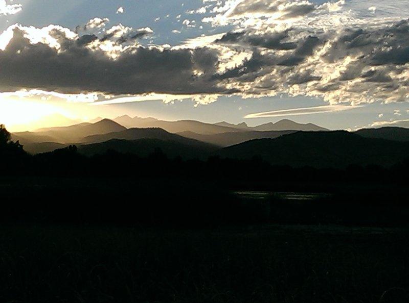 Sunset over Sombrero Marsh