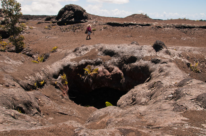 Imagine lava spewing from the ground here!