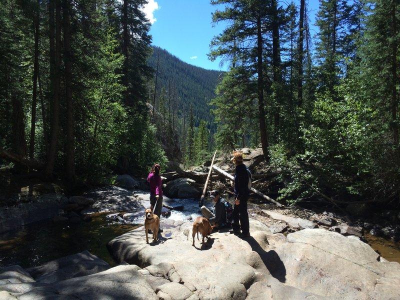 Cascade near the trail's end