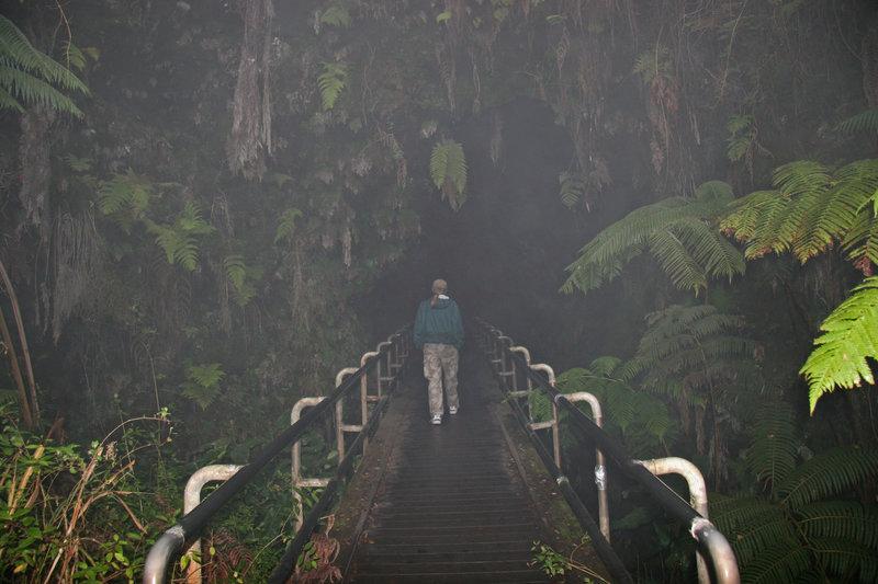 Entering Thurston Lava Tube.