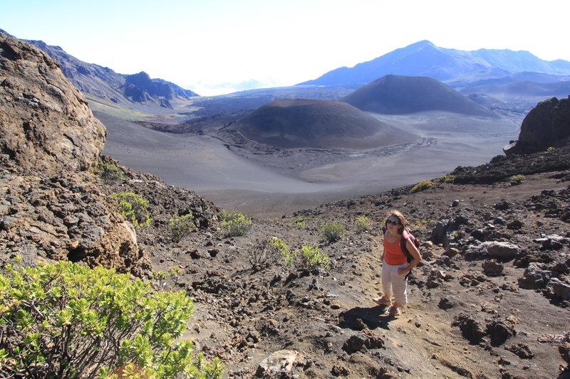 Celestina in Haleakala 'crater'
