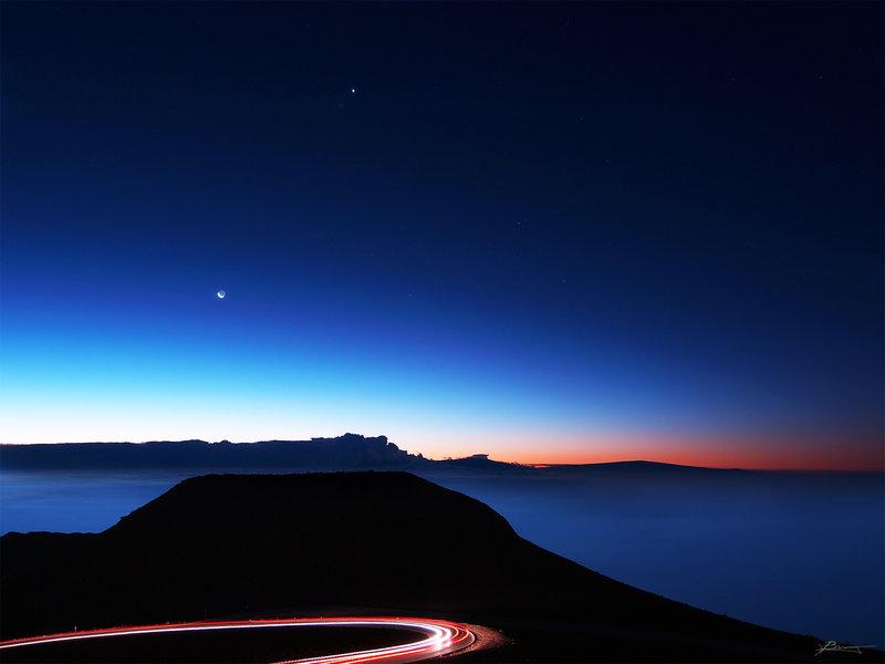 Predawn, Haleakala Summit.