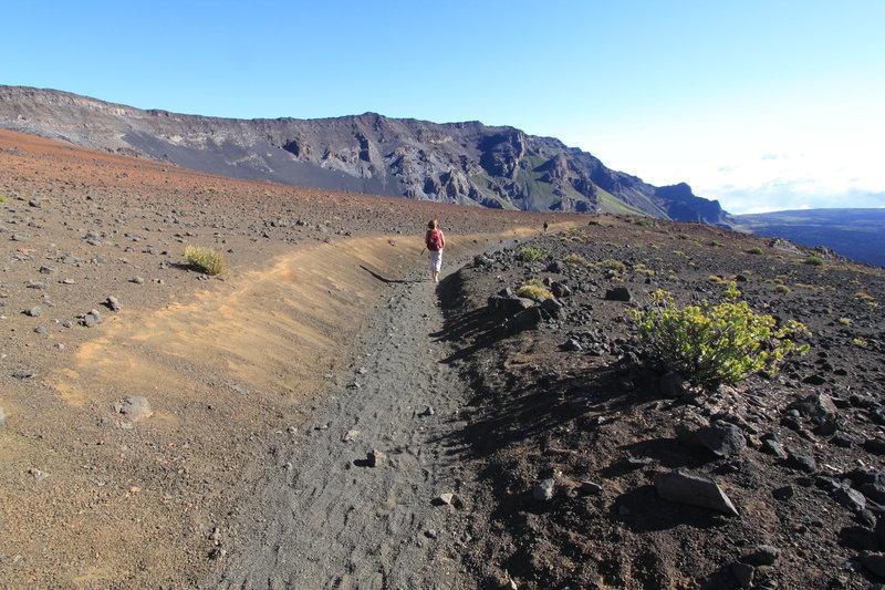 Hiking in Haleakala 'crater'