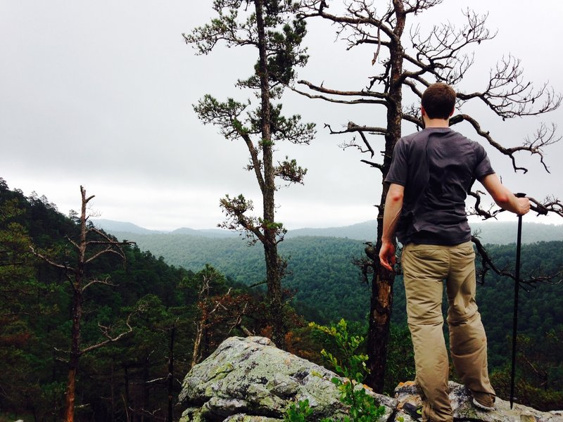 Take the 0.2 mile spur trail to Spirit Rock Vista for the best view along the trail.