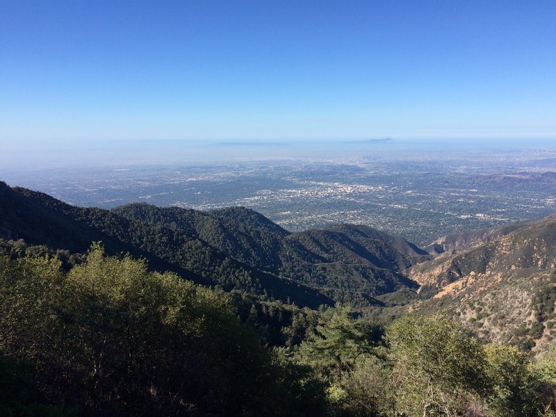 View of Pasadena and beyond from Mt. Wilson