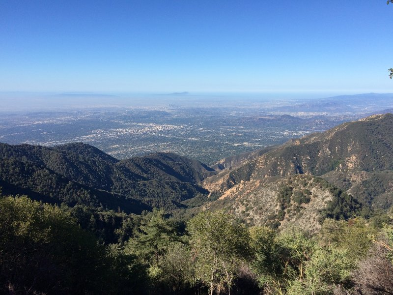 Everything is clear at 5000ft above.  You can even see the tall buildings in Downtown Los Angeles!