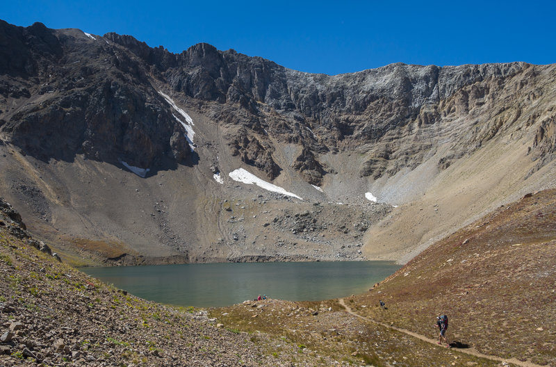 Approaching the sublime Grizzly Lake. About as good as it gets.