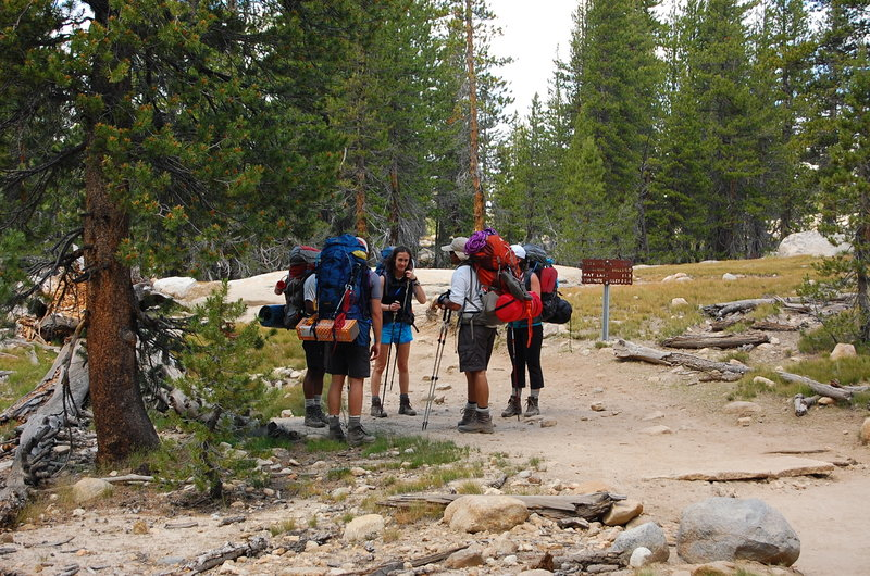 A 'meeting of the minds' at the intersection of the Young Lakes Trail.