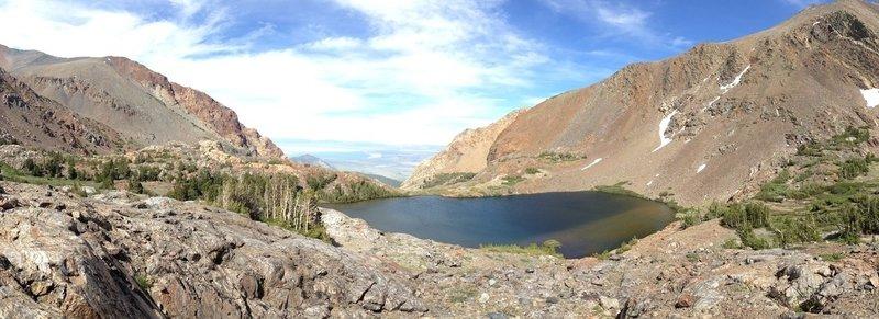 Sardine Lake and distant Mono Lake.