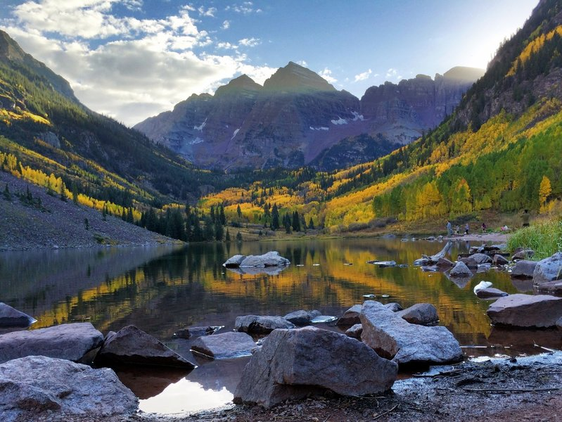 One hell of an evening at the Maroon Bells