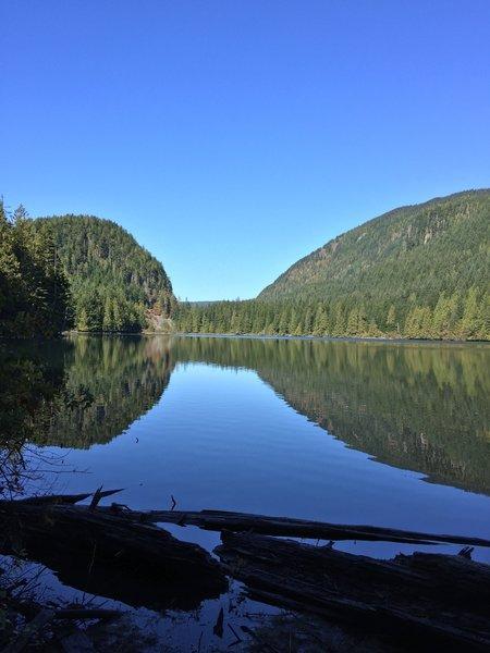 North-facing view of Wallace Lake.