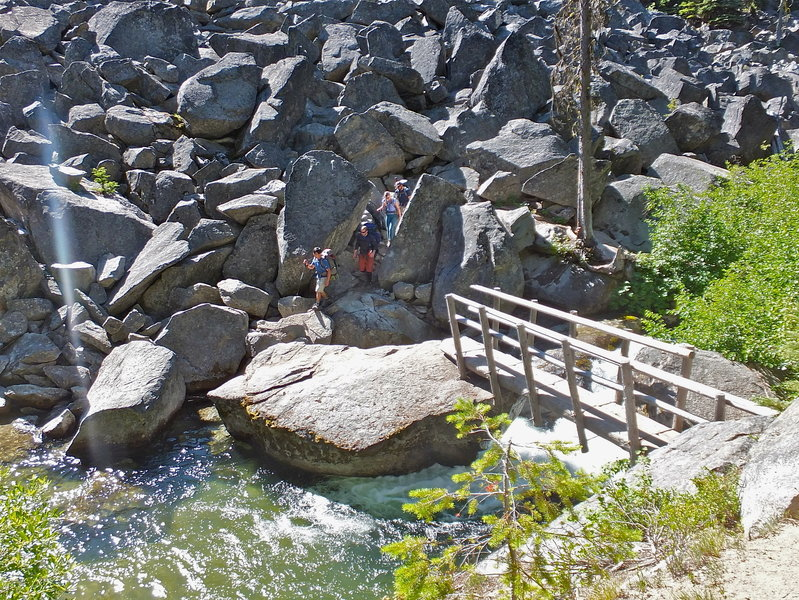 A bridge along the Enchantments Traverse.