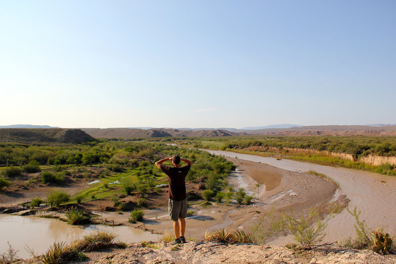 Overlooking the Rio Grande River and the boundary of two countries